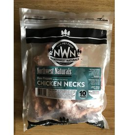 Northwest Naturals Raw Frozen Chicken Necks for Dogs 10pc
