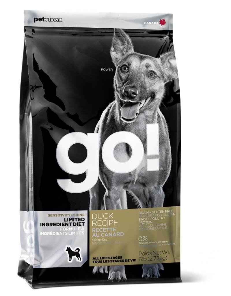 Petcurean Go Sensitivity + Shine Limited Ingredient Duck Recipe Grain Free Dry Dog Food