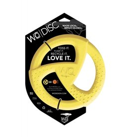 WO Dog Toy Disc Yellow