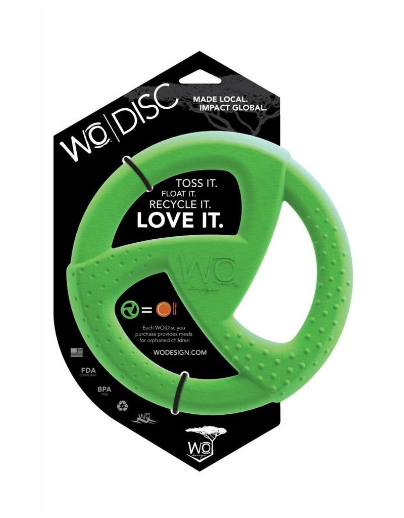 WO Dog Toys Widows & Orphans WO Disc Green Dog Toy