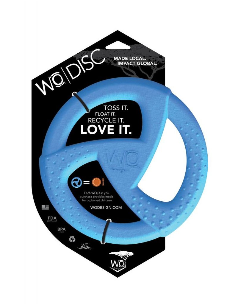 WO Dog Toys Widows & Orphans WO Disc Blue Dog Toy