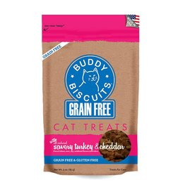 Cloud Star Cloud Star Grain Free Buddy Biscuits Savory Turkey & Cheddar Cat Treats 3oz