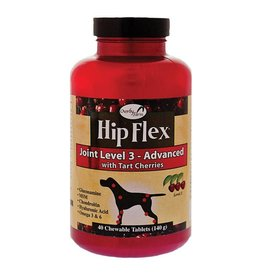 Overby Farm Hip Flex Joint Level 3 Advanced with Tart Cherries Dog Tablets 40Ct