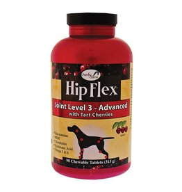 Overby Farm Hip Flex Joint Level 3 Advanced with Tart Cherries Dog Tablets 90Ct