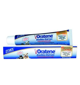 Zymox Oratene Brushless Toothpaste Gel for Dogs & Cats 2.5oz