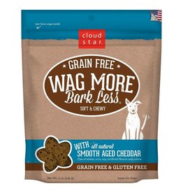 Cloud Star Cloud Star Wag More Bark Less Grain-Free Soft & Chewy with Smooth Aged Cheddar Dog Treats 5oz