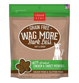 Cloud Star Cloud Star Wag More Bark Less Grain-Free Soft & Chewy with Chicken & Sweet Potato Dog Treats 5oz