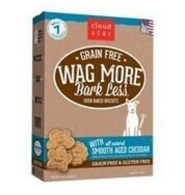 Cloud Star Cloud Star Wag More Bark Less Grain-Free Oven Baked with Smooth Aged Cheddar Dog Treats 14oz
