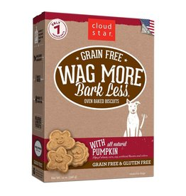 Cloud Star Cloud Star Wag More Bark Less Grain-Free Oven Baked with Pumpkin Dog Treats 14oz