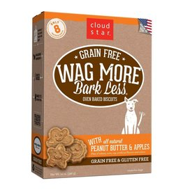 Cloud Star Cloud Star Wag More Bark Less Grain-Free Oven Baked with Peanut Butter & Apples Dog Treats 14oz