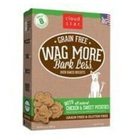 Cloud Star Cloud Star Wag More Bark Less Grain-Free Oven Baked with Chicken & Sweet Potato Dog Treats 14oz