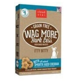 Cloud Star Cloud Star Wag More Bark Less Grain-Free Itty Bitty Oven Baked with Smooth Aged Cheddar Dog Treats 7oz