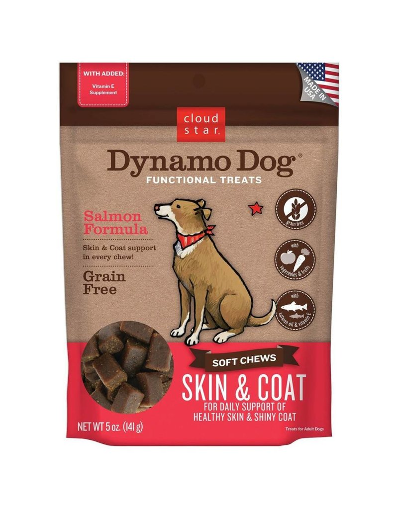 Cloud Star Cloud Star Dynamo Dog Skin & Coat Soft Chews Salmon Formula Dog Treats 5oz