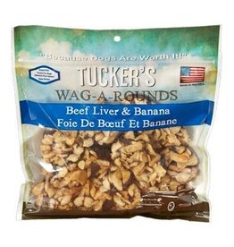 Tucker's Wag-A-Rounds Beef Liver & Banana Dog Treats 6oz