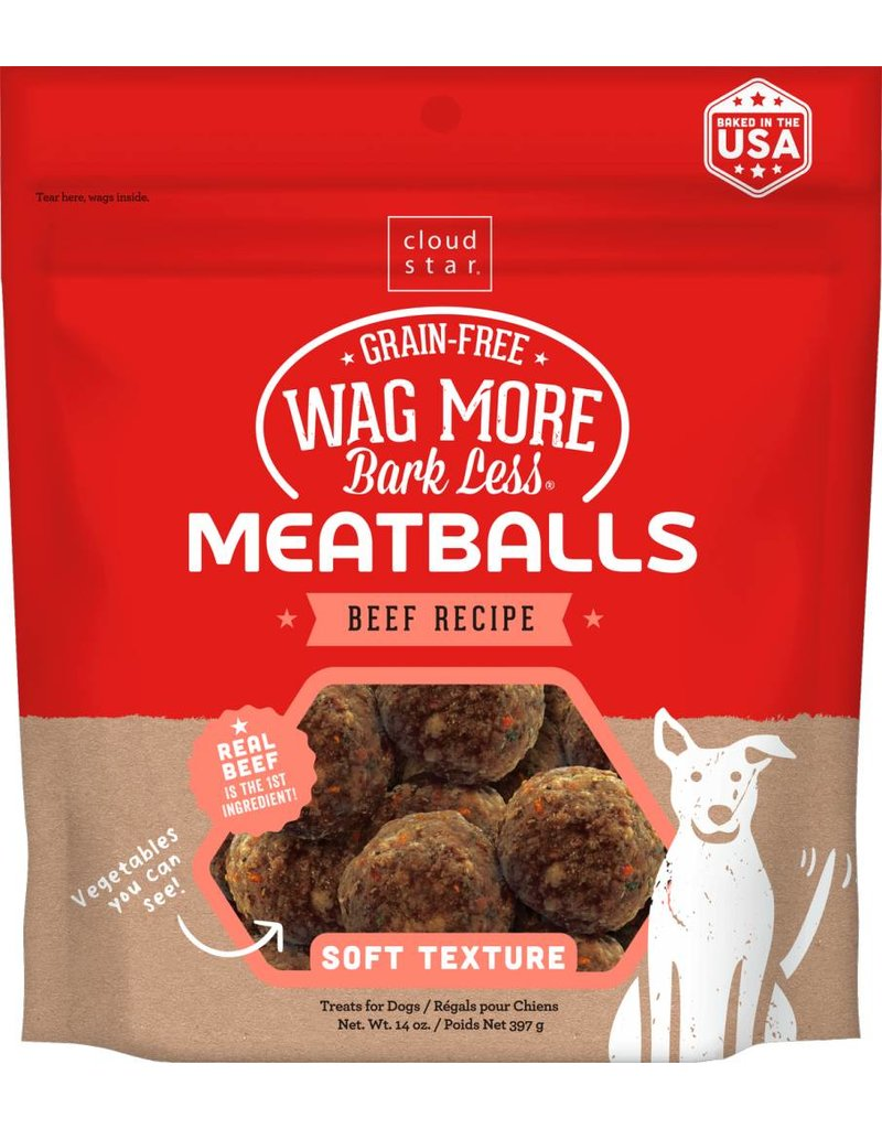 Cloud Star Cloud Star Wag More Bark Less Beef Recipe Meatballs Dog Treats 14oz