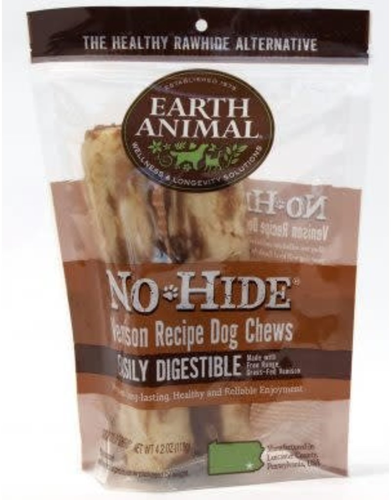 Earth Animal No-Hide Venison Dog Chews 2 pk 7in