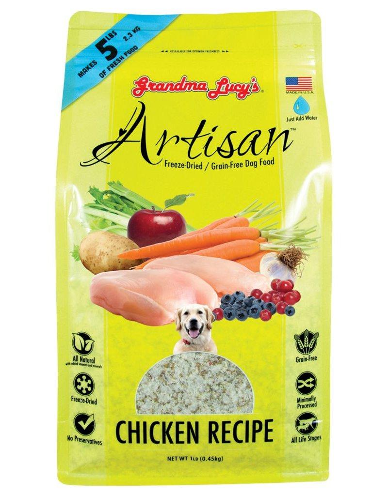 Grandma Lucy's Artisan Chicken Recipe Freeze-Dried Dog Food 1lb