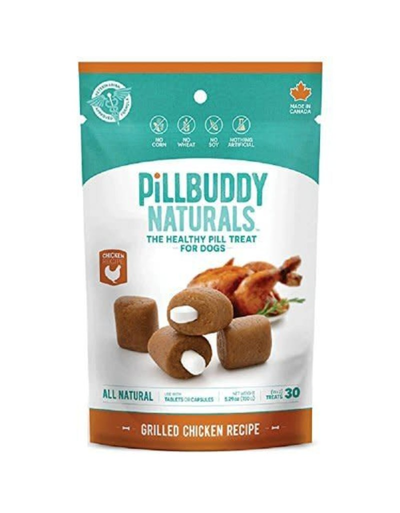 Complete Natural Nutrition Pill Buddy Naturals Grilled Chicken Recipe Dog Treats 30 count