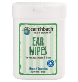 Earthbath Earthbath Ear Wipes for Dogs, Cats, Puppies & Kittens 25 wipes
