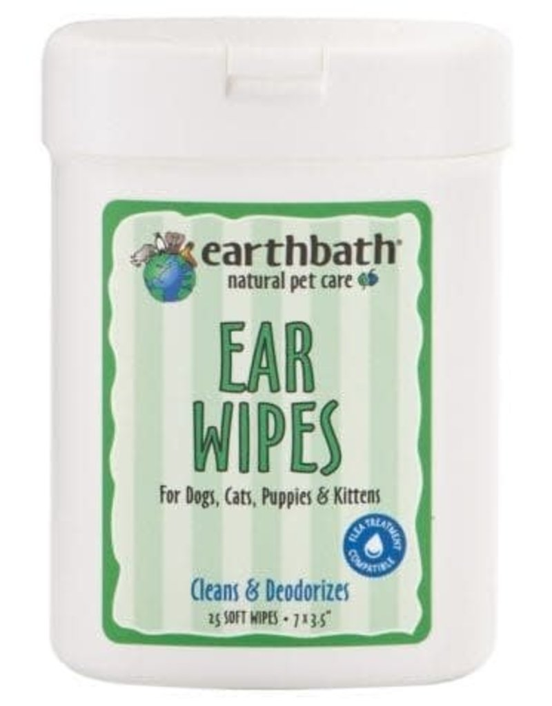 Earthbath Ear Wipes for Dogs, Cats, Puppies & Kittens 25 wipes