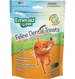 Emerald Pet Emerald Pet Feline Dental Treats with Chicken 3oz