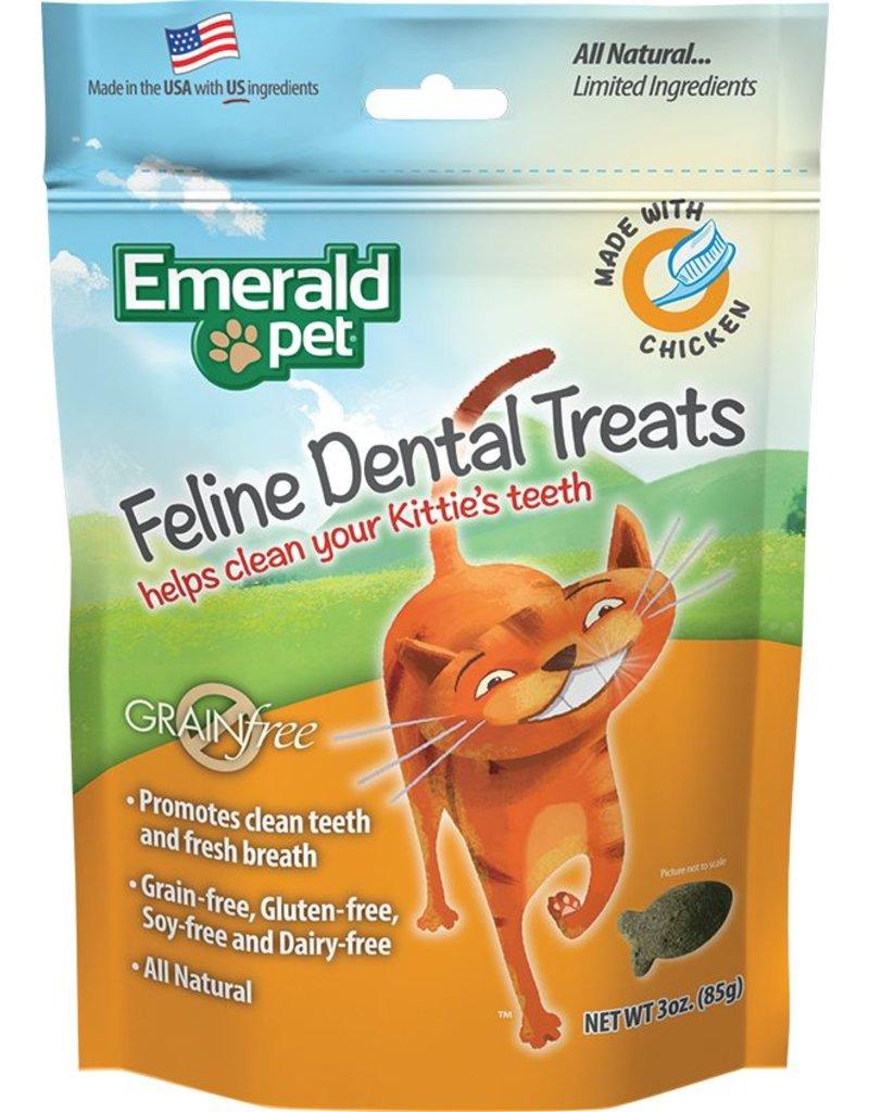 Emerald Pet Emerald Pet Feline Dental Treats with Chicken 3oz