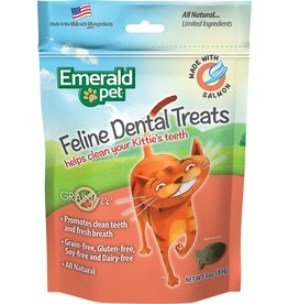 Emerald Pet Emerald Pet Feline Dental Treats with Salmon 3oz