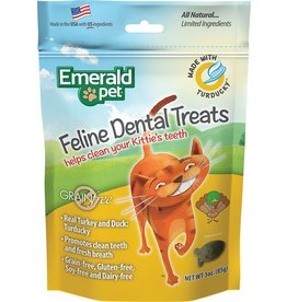 Emerald Pet Feline Dental Treats with Turducky 3oz