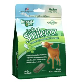 Emerald Pet Smileezz Medium Dental Chews for Dogs 12.5oz