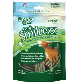 Emerald Pet Smileezz Medium Dental Chews for Dogs 6oz
