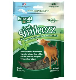 Emerald Pet Smileezz Mini Dental Chews for Dogs 6oz