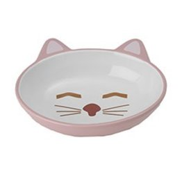 Petrageous Sleepy Kitty Oval Pink Cat Bowl 1each