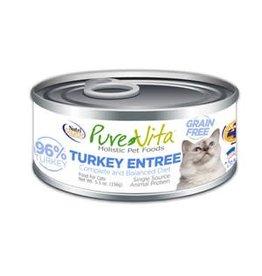 Pure Vita Pure Vita Turkey Entree Grain Free Canned Cat Food 5.5oz