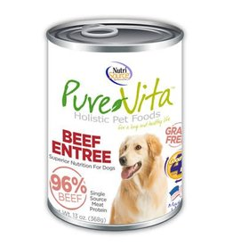 Pure Vita Grain-Free Beef Entree Canned Dog Food 13oz