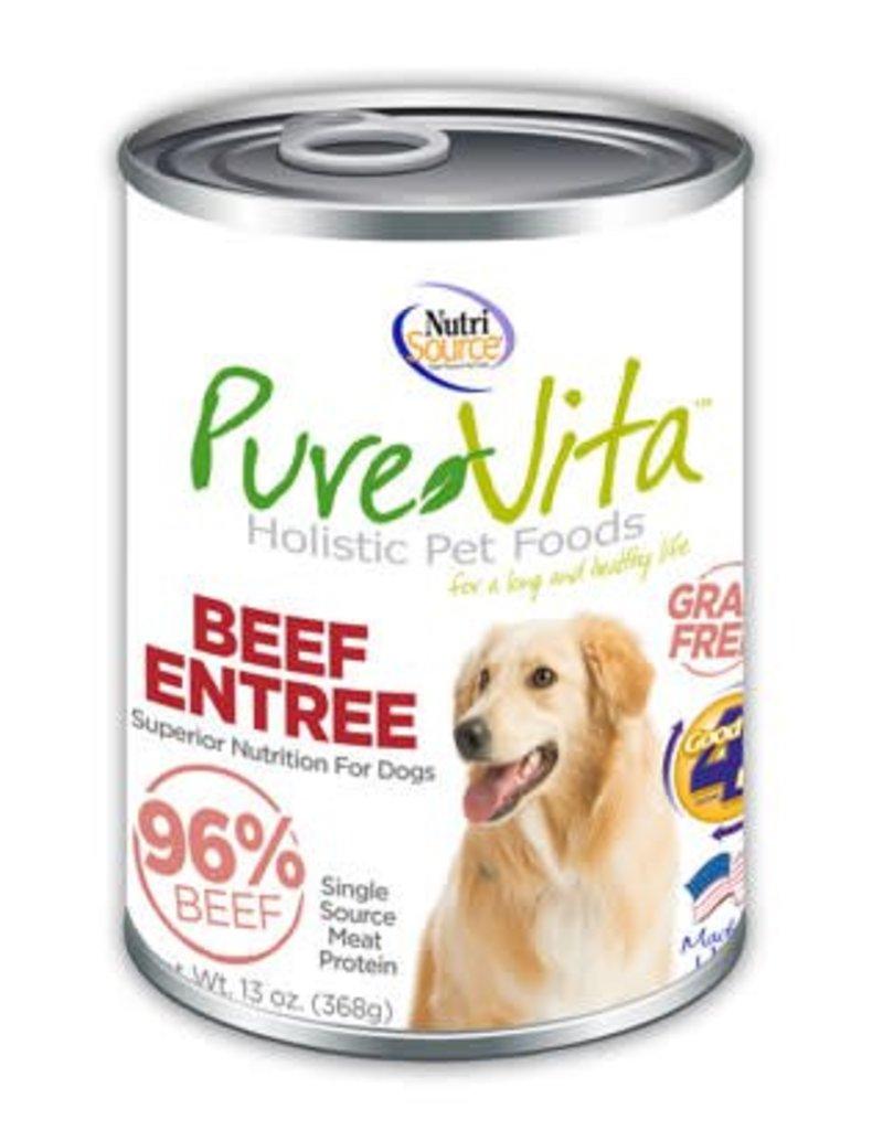 Pure Vita Pure Vita Beef Entree Grain Free Canned Dog Food 13oz