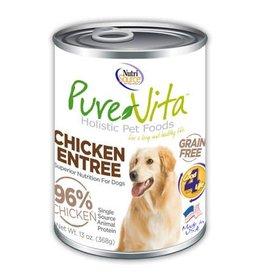 Pure Vita Grain-Free Chicken Entree Canned Dog Food 13oz