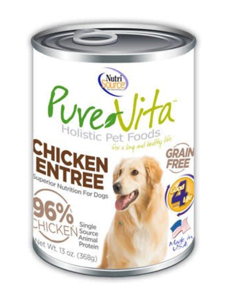 Pure Vita Pure Vita Chicken Entree Grain Free Canned Dog Food 13oz