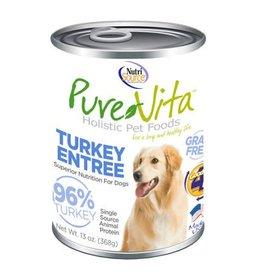 Pure Vita Grain-Free Turkey Entree Canned Dog Food 13oz