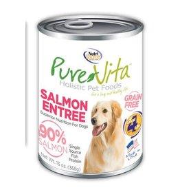 Pure Vita Grain-Free Salmon Entree Canned Dog Food 13oz