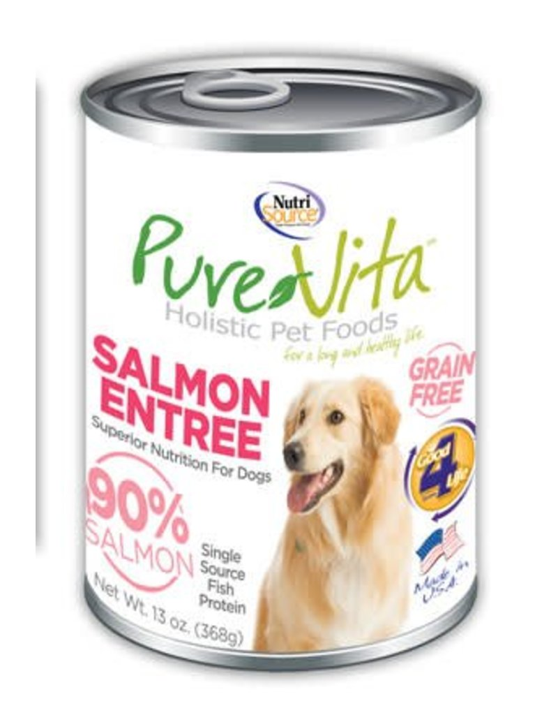 Pure Vita Pure Vita Salmon Entree Grain Free Canned Dog Food 13oz