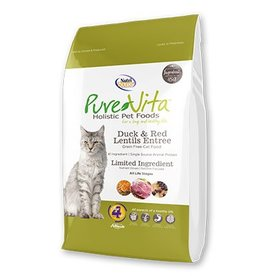 Pure Vita Grain-Free Duck & Red Lentils Dry Cat Food 6.6lb