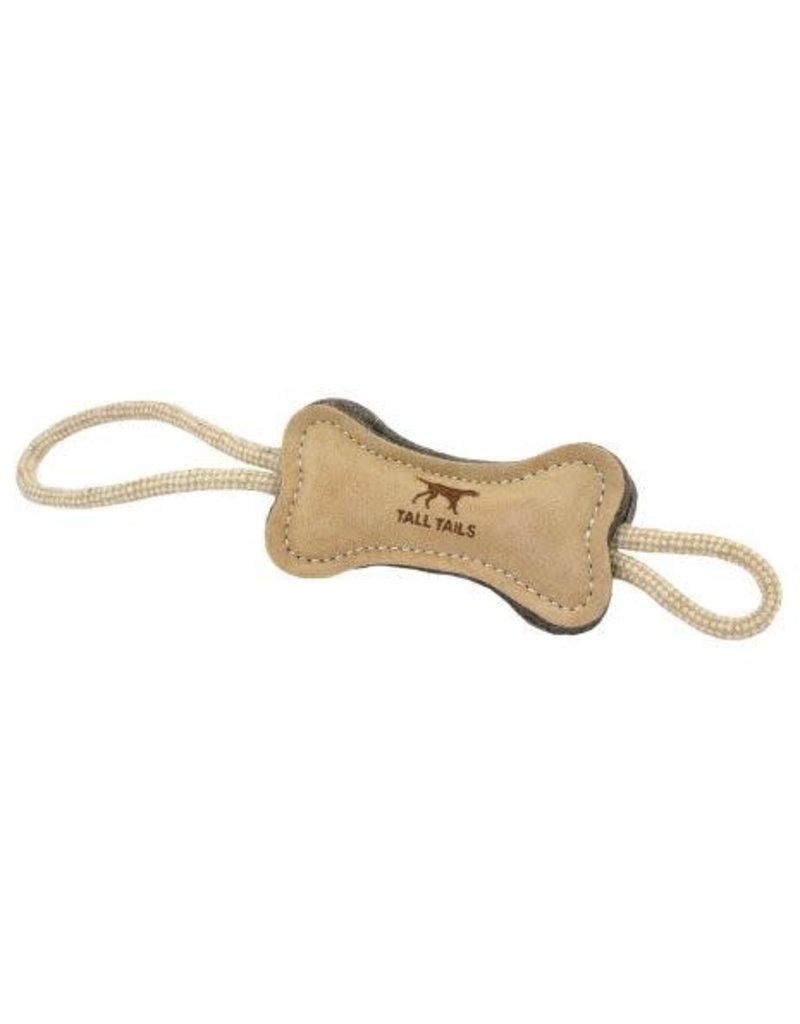 "Tall Tails Natural Wool Bone Tug Dog Toy 15"""