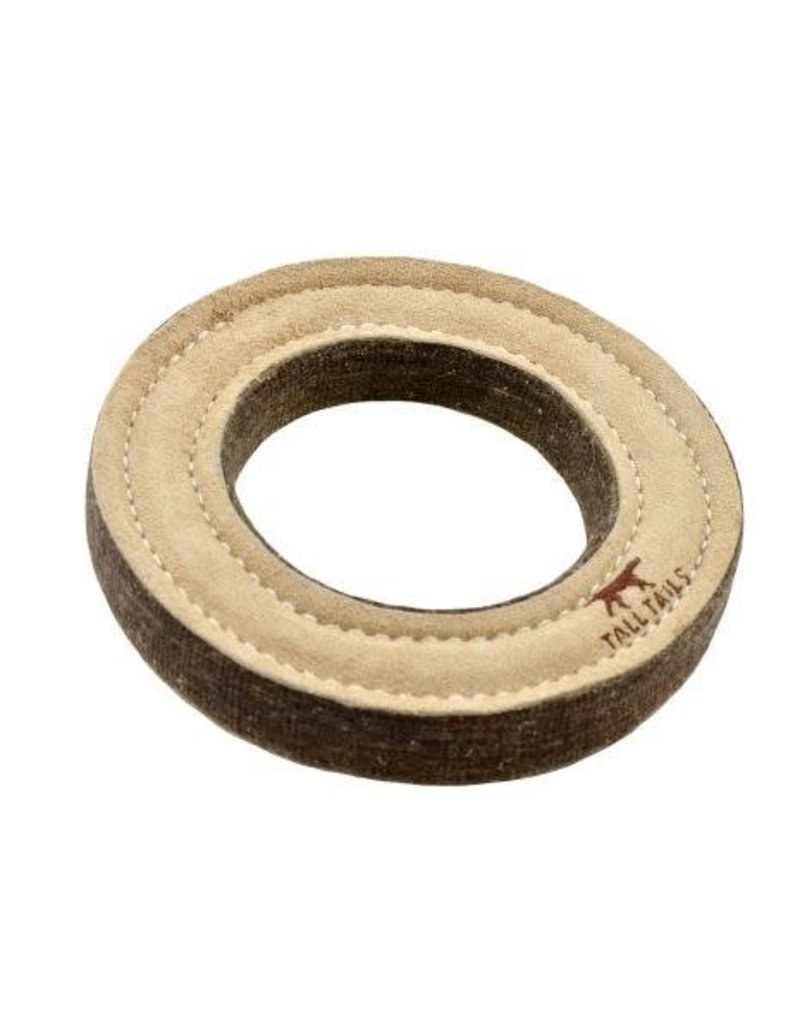 """Tall Tails Natural Wool Ring Dog Toy 7"""""""