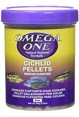 Omega One Omega One Medium Cichlid Pellets Floating 3.5oz