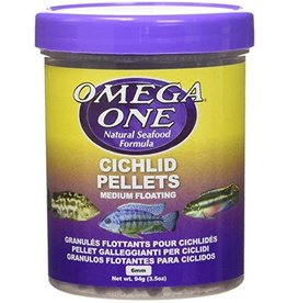 Omega One Omega One Medium Cichlid Pellets Floating 3.5oz