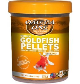 Omega One Omega One Medium Goldfish Pellets Sinking 4.2oz
