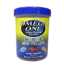 Omega One Omega One Mini Garlic Marine Pellets Sinking 3.5oz