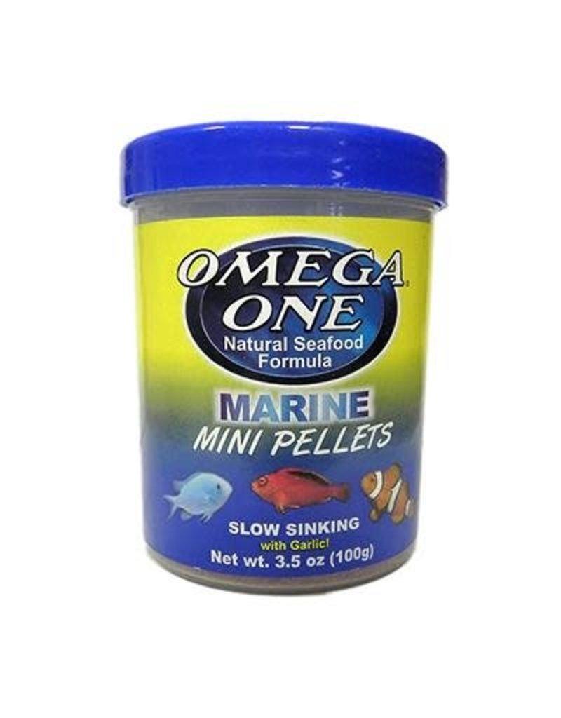 Omega One Omega One Mini Garlic Marine Pellets Sinking 3.5oz