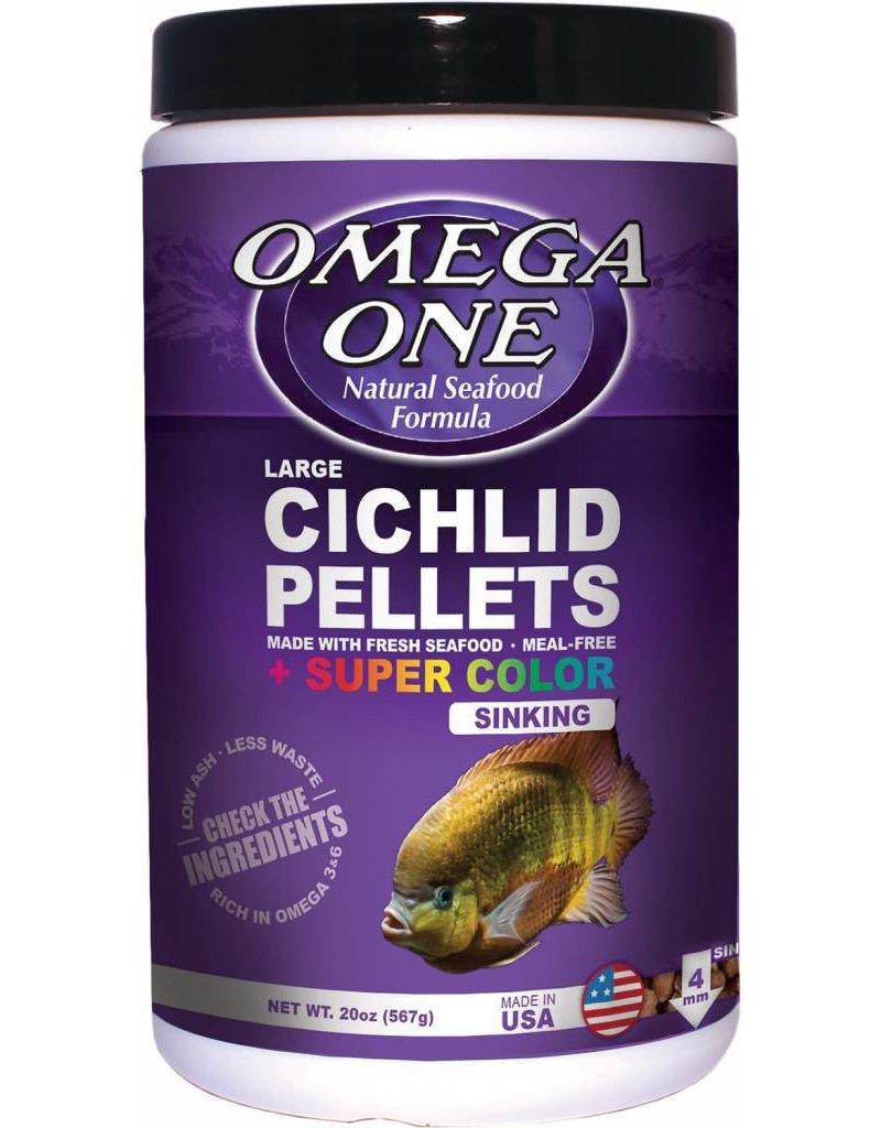 Omega One Omega One Large Super Color Cichlid Pellets Sinking 20oz