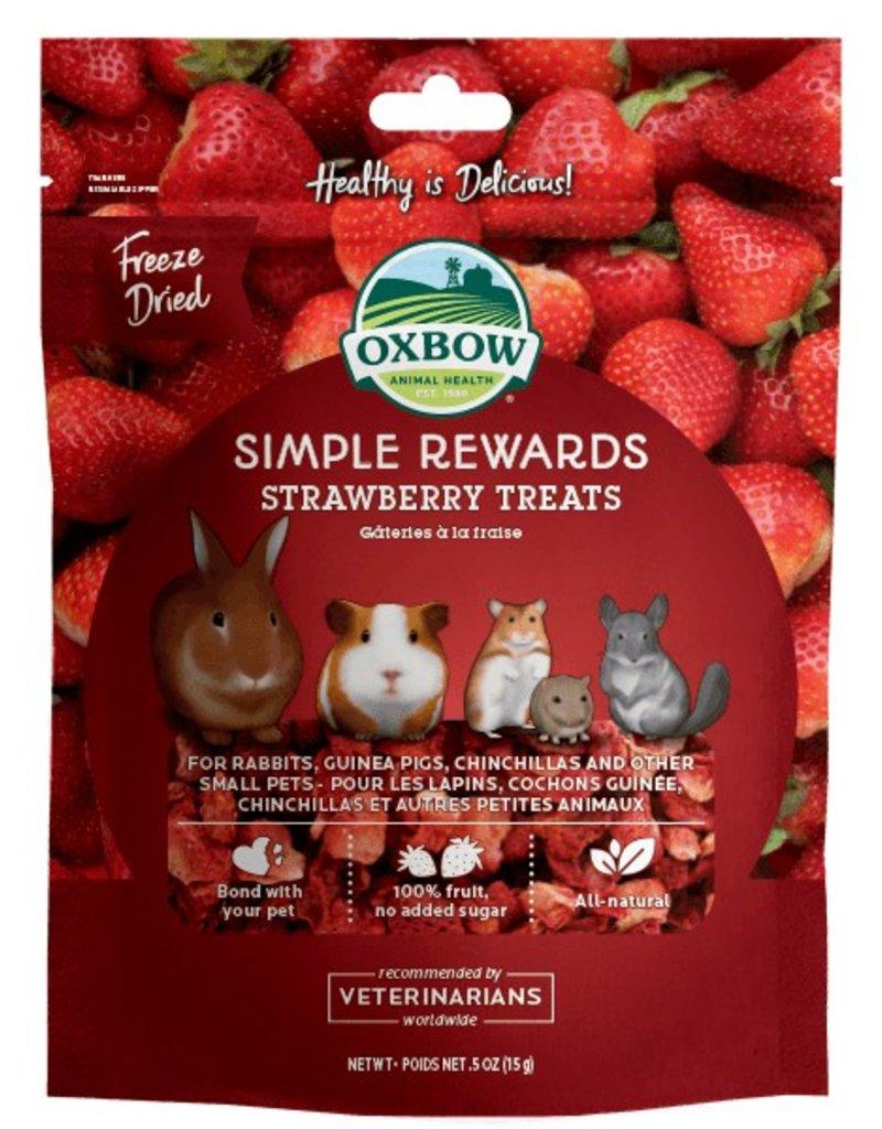 Oxbow Oxbow Simple Rewards Freeze Dried Strawberry Treats 0.50oz